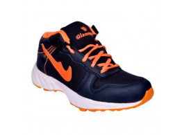 Glamour Blue Orange Sports Shoes (ART-4041)
