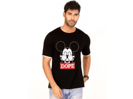 Dope Jet Black Graphic Half Sleeve T Shirt