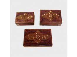 Wooden Jewellery Box 3 Piece Set