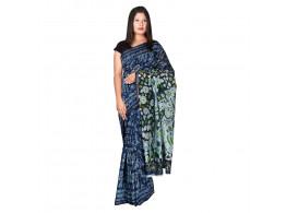 PANVI Printed Chanderi Silk Saree  (Blue)