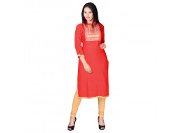 Shopwell Casual Embroidered Women's Kurti