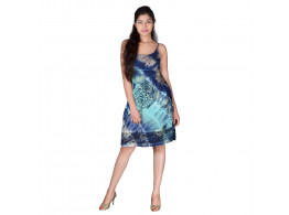 SPAGHETTI STRAP TIE n DYE DRESS WITH CELTIC PRINT