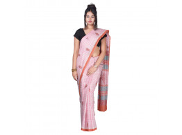 Kahili Art Print Cotton Saree