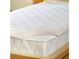 Krishna Cotton Double Mattresses Protector - White