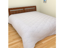 KRISHNA Polycotton Queen Mattress Protection - White