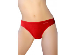 Pusyy Clistoria Women's Bikini Red Panty  (Pack of 1)