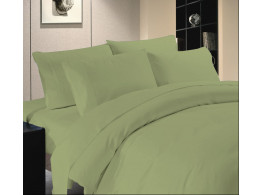 Egyptian Cotton Beddings Solid Bed Sheet With Pillow Covers - Moss