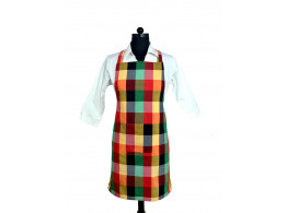 Switchon Multi Color Checks Apron with Front Pocket …