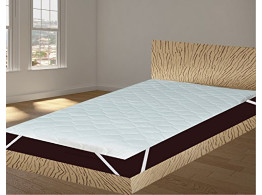 "India Furnish Waterproof Quilted Mattress Protector With Elastic Band King Size - White 78""x36"""