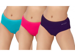 Pusyy Bigydiky-Combo-Nmb Women's Hipster Multicolor Panty  (Pack of 3)