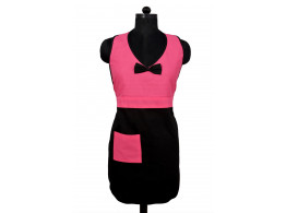 New Style Switchon Cotton pink and Black Apron with pocket