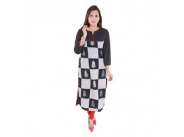 Pneha Designer Knee Length Multi Colored Kurti