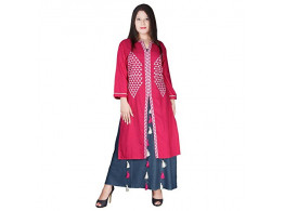 Pneha Party Wear Multi Colored Kurti