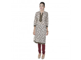Pneha women's 3/4 Sleeve Embroidered kurti