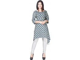 Radha's Abstract Women Trail Cut Kurta  (White)