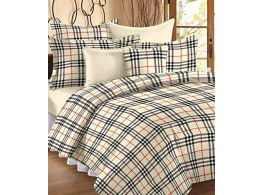 Renown Checks Print Reversible Poly Cotton Single Bed AC Blanket / Dohar
