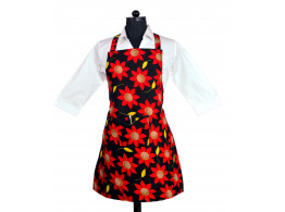 Switchon Flower Printed Waterproof Kitchen Aron with Front pocket