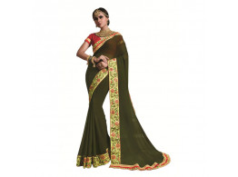 Ridham Fashions Multi Color Georgette Designer Saree