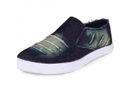 Rock Passion Men's Denim Jeans Blue loafers shoes