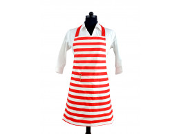 Switchon Hot Red and White Waterproof Cotton Kitchen Apron …