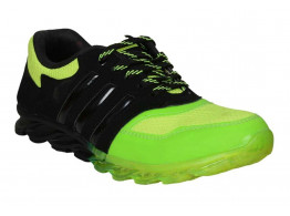 RUDOSE Men's Green & Black Running Sports & Casual Shoes