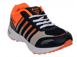 RUDOSE Men's Orange Black Sports & Casual Shoes