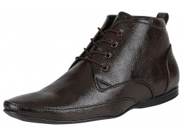 RUDOSE Men's Patent Leather Brown Formal Shoes