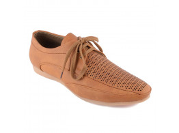 RUDOSE Men's Tan Mat Synthetic Leather Sneakers Moccasions & Casual Loafer Shoes