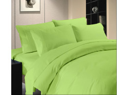 Egyptian Cotton Beddings Solid Bed Sheet With Pillow Covers - Sage Green