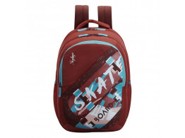 SKYBAGS ASTRO PLUS 01 RED 34L SKATE THEME SCHOOL BACKPACK
