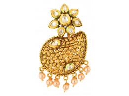 Spe Indian Ethnics Golden Copper Hair Clip for Women (HC-02)