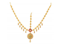 Spe Indian Ethnics Golden Copper Maang Tikka for Women (FHL-06)