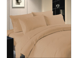 Egyptian Cotton Beddings Solid Bed Sheet With Pillow Covers - Taupe