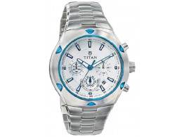 Titan NE9468KM01J Chronograph White Dial Men Watch