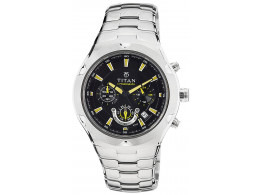 Titan NE9468SM01J Chronograph Black Dial Men Watch