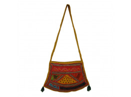 The Living Craft ETHNIC FARSA SHAPED WOMEN's SLING BAG with PATCHWORK Multicolor TLCBG0225