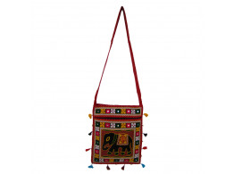The Living Craft RAJASTHANI WOMEN's SLING BAG with AARI EMBROIDERY Mutlicolor TLCBG0244
