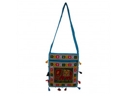 The Living Craft RAJASTHANI WOMEN's SLING BAG with AARI EMBROIDERY Mutlicolor TLCBG0245