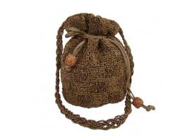 The Living Craft Satin Potli with heavy bead work