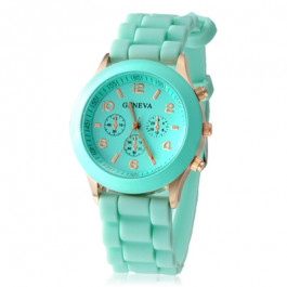 Women's or Girl's Watch Fashion Silicone Strap Candy Color Length 25Cm Firozi Colour