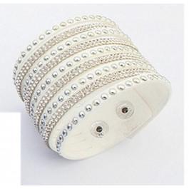 Multilayer Crystal Bracelet - White