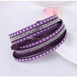 Multilayer Crystal Bracelet Light Shining -  Violet