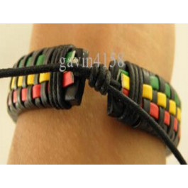 Leather Wristband Bracelets Unisex multicolor