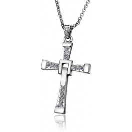 Alloy Diamond Cross Necklace