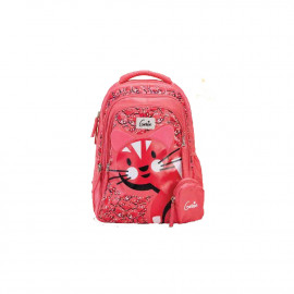 Genie Meow Pink 19L Backpack For Kids
