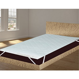 "India Furnish Waterproof Quilted Mattress Protector With Elastic Band King Size - White 75""x36"""