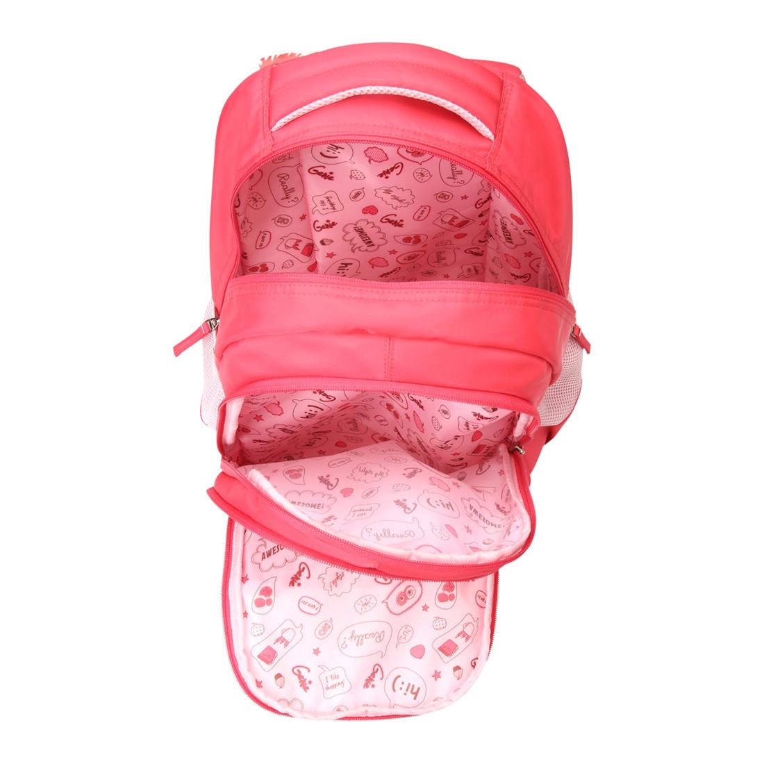 Genie Paris Pink 18 School Bags For Girls
